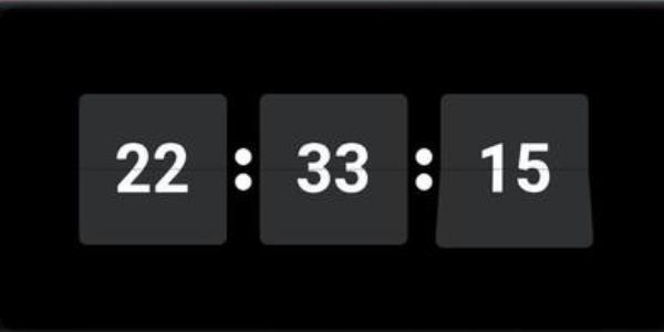 手机秒杀用的悬浮时钟
