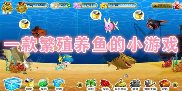 一款繁殖养鱼的小游戏